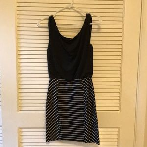 Maurice's black and white stripe dress